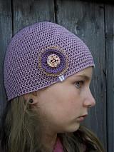 Detské čiapky - staroružová veľká SKLADOM - 1679810