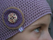 Detské čiapky - staroružová veľká SKLADOM - 1679814