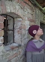 Detské čiapky - bordová veľká - 1679834