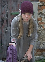 Detské čiapky - bordová veľká - 1679842