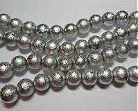Korálky - Metalizované 10mm-10ks - 1682572