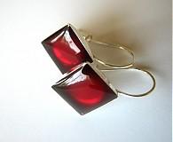 Náušnice - Krásne červené striebro Ag 925 - 1686047