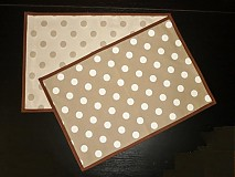 Úžitkový textil - Obojstranné prestieranie béžové - 1689666