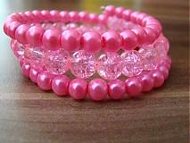 Náramky - Náramok ružová neon - 1691700