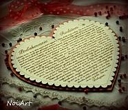 Svadobné srdce 2 - Poďakovanie rodičom