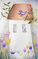 Kresby - Ráno v záhrade - 1694803
