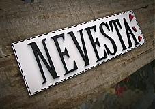 Tabuľky - tabuľka NEVESTA - 1697126