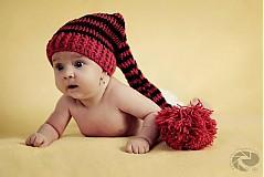 Detské čiapky - Červené elfíča - 1700227