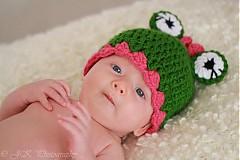 Detské čiapky - Žabka - 1720749