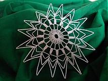 Úžitkový textil - Háčkovaná biela hviezdica - 1734682