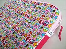Na notebook - Veselý sovičkový- obal na notebook - 1735703