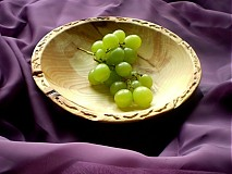 Nádoby - Jaseňová  vyrezávaná miska - plytká / na objednávku - 17400