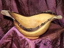 Nádoby - Prírodná trojrohá mištičky z hruštičky / objednávka - 17415