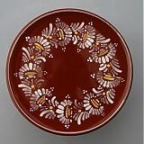 Nádoby - Tác, podnos, talíř kopretiny 22 hnědý - 1742238