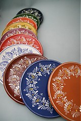 Nádoby - Tác, podnos, talíř kopretina 22 červený - 1742245