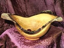 Nádoby - Prírodná trojrohá mištičky z hruštičky / objednávka - 17425