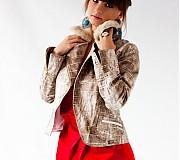 Kabáty - Trendová budna na šikmý zips s kožušinkou - 1745265