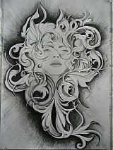 Kresby - tajomná žena - 1749180