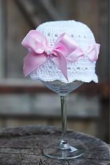 Detské čiapky - čiapočka s mašlou - 1749806