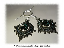 - A little emerald - náušničky  - 17516