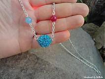 Náhrdelníky - Veselosti - náhrdelník (s achátmi) - 1753574