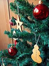 Dekorácie - Snehuliak - vianočná ozdoba (Javor) - 1759966