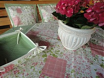 Úžitkový textil - Obrus - Popolavá ruža - - 1760662