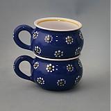 Nádoby - Buclák 5 espresso kytka - modrý - 1766134