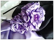Ozdoby do vlasov - Čelenka -black&violet k opasku. - 1769500