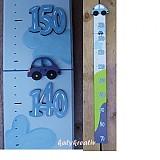 Dekorácie - Rastový meter s autíčkom - 1770294