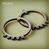 Materiál ručne robený - Kruh s kolieskami na vešanie - 1776109