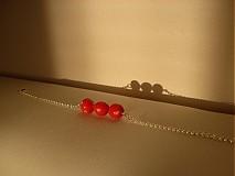 Náramky - 3 muchotrávky červené - 1779430