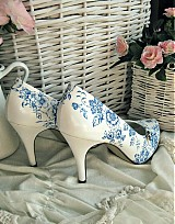 Obuv - Rozkvitli v modrom topánky - 1782184
