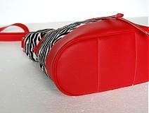 Kabelky - MiniBig - Zebrovo-červená - Zľava - 1784745