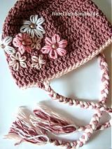 Detské čiapky - detská čipka s výšivkou - 1784783