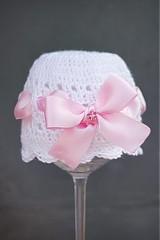 Detské čiapky - čiapočka s mašlou - 1796892