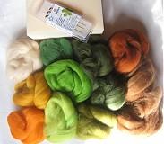 Textil - Sada pre začiatočníkov - vlna na plstenie, ihly, podložka 140 g - 1797261