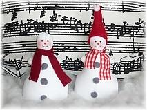 Dekorácie - Veselý snehuliak - 1799357