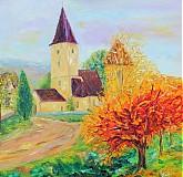 Obrazy - Dedinka v údolí... - 1807372