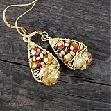 Náušnice - Náušnice Zlatý podzim... - 1808696