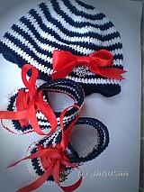Topánočky - Háčkované tenisky ... malá námorníčka ... - 1809700
