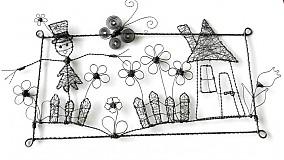 Dekorácie - chalúpka so strašiakom v záhrade:o) - 1823334