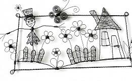 Dekorácie - chalúpka so strašiakom v záhrade:o) - 1823339