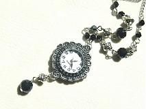 Náhrdelníky - hodinky v čiernom - 1826037