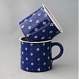 Nádoby - Kafáč 4puntík 10 modrý, cca 0,5 l - 1832642