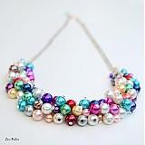 Náhrdelníky - Farebné perličky - 1832777