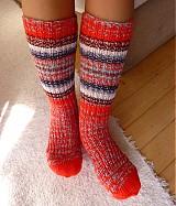 - Ponožky červené 4 - 5 - 1833199