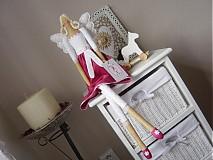 Bábiky - Anjelka v cyklámenovej sukničke - 1840866