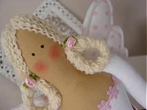 Bábiky - Anjelka v cyklámenovej sukničke - 1840867