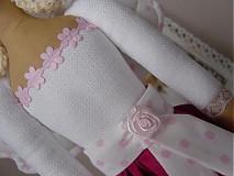 Bábiky - Anjelka v cyklámenovej sukničke - 1840868